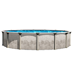 "CORAL REEF 18' X 33' OVAL BUTTRESS FREE ABOVEGROUND POOL, 8"" TOP, 54"" WALL"
