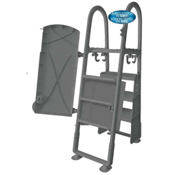 CHAMPLAIN PLASTIC,ADJUSTABLE RESIN SECURITY LADDER,GREY
