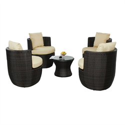 COCO 5 PIECE STACKING CONVERSATIONAL SET, SAND CUSHION