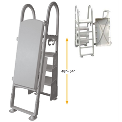 CHAMPLAIN PLASTICS, ADJUSTABLE RESIN SECURITY LADDER WITH SELF CLOSING LATCH