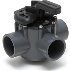 "PENTAIR 1.5"" 3-WAY VALVE, PVC"