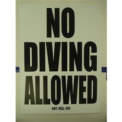 "18""x24"" 'NO DIVING ALLOWED' SIGN"