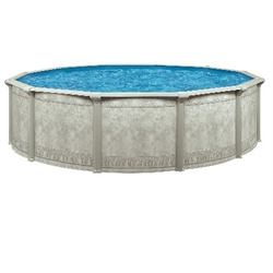 "21' ROUND RESIN A/G POOL, 7"" TOP, 52"" WALL, CORNELIUS"