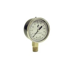 AMERCIAN GRANDBY, LIQUID FILLED VACUUM GAUGE, 0-30 PSI