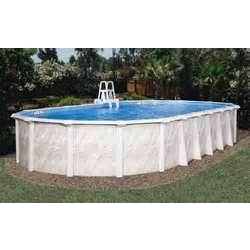 12'x24' STERLING A/G POOL, C/W SKIMMER, BUTTRESS FREE OVAL