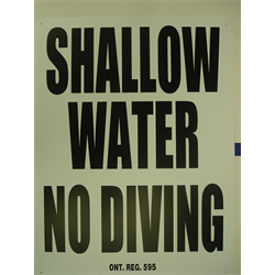 "18""x24"" SHALLOW WATER-NO DIVING SIGN"