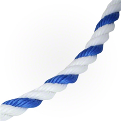 "AMERICAN GRANDBY, 3/4"" BLUE & WHITE ROPE- PER FT."