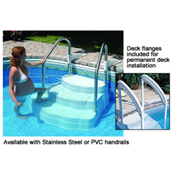 LUMIO OASIS IN-GROUND STEP C/W 2 PVC HANDRAILS