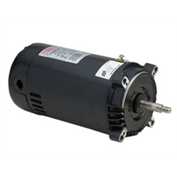 "1 HP C FACE 56J FRAME MOTOR (JACUZZI, HAYWARD) 5.5"" FRAME (REPLACED BY AST125)"