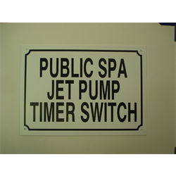 """10""""x14"""" TIMER SWITCH SIGN"""