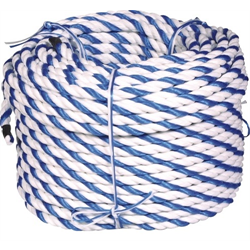 "AMERICAN GRANDBY, 3/4""x300' BLUE & WHITE ROPE"