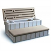 LEISURE ACCENT STORAGE STEP, TAUPE (NON-STOCK)